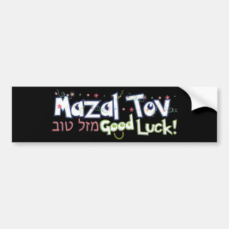 Mazel Tov Pegatina Para Auto