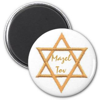 Mazel Tov/Star of David 2 Inch Round Magnet