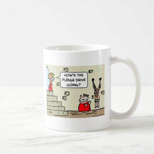 mazmorra de la impulsión del compromiso del rey tazas de café