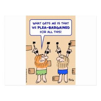 mazmorra de los presos súplica-negociada postal
