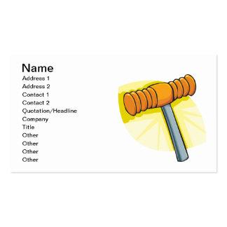 Mazo de croquet plantilla de tarjeta de visita