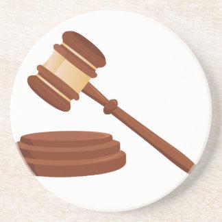 Mazo del juez posavasos manualidades
