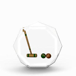 Mazo y bolas de croquet