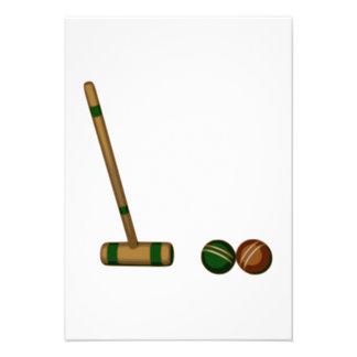 Mazo y bolas de croquet anuncios personalizados
