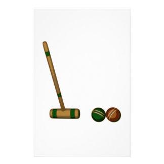 Mazo y bolas de croquet papeleria