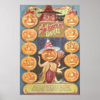 Mazorca de maíz del palo de la linterna de Jack O  Póster