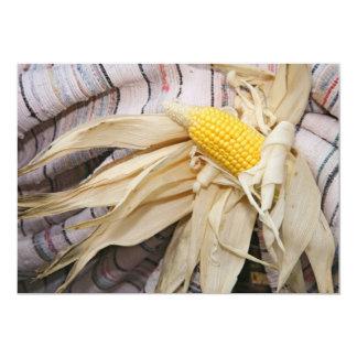 """Mazorca de maíz invitación 5"""" x 7"""""""