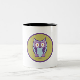 MAZZI the KING OWL Two-Tone Coffee Mug