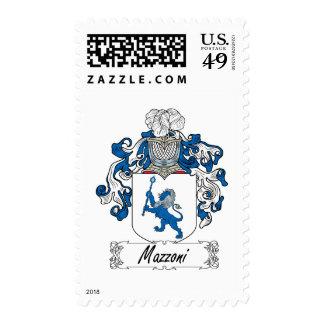 Mazzoni Family Crest Postage