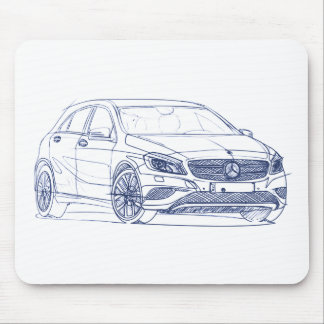 MB A class 2013 Mouse Pad