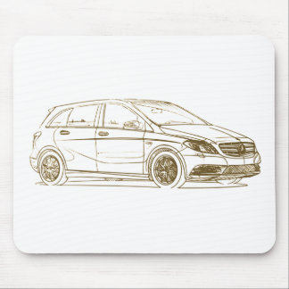 MB B class 2012 Mouse Pad