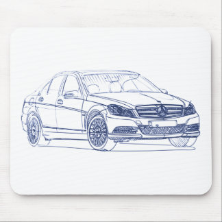 MB C class 2012 Mouse Pad
