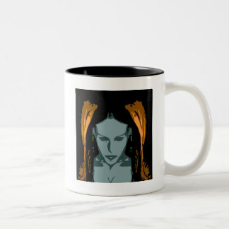 MB Cyber Chick Vector Art Mug