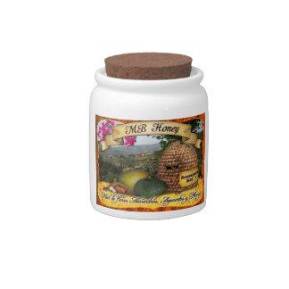 MB Honey from Benamargosa, Spain Candy Jars