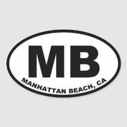 MB Manhattan Beach oval Oval Sticker