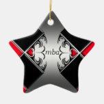 mba adorno navideño de cerámica en forma de estrella