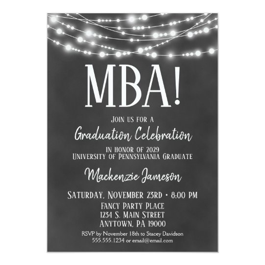 Mba Business Admin Graduation Party Invitation Zazzle Com