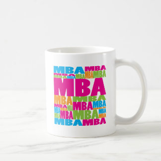 MBA colorido Tazas De Café