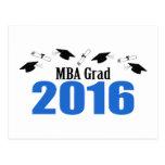 MBA Grad 2016 Postcard Invite (Blue Caps)