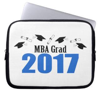 MBA Grad 2017 Caps And Diplomas (Blue) Computer Sleeve