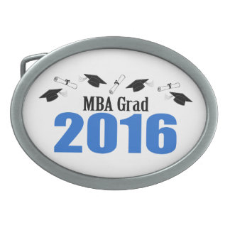 MBA Grad Class Of 2016 Caps And Diplomas (Blue) Belt Buckle