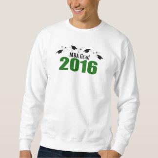 MBA Grad Class Of 2016 Caps And Diplomas (Green) Sweatshirt