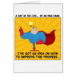 MBA Graduates Know the Answers to All Problems Greeting Card