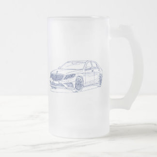 MBAMG Sclass 2014 Frosted Glass Beer Mug