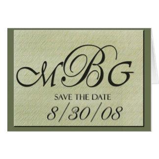 MBG Custom Save the Date Card
