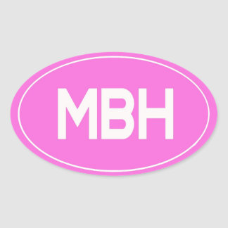 MBH OVAL STICKERS