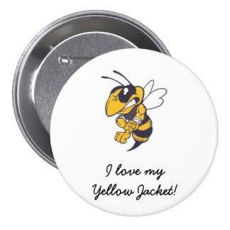 Mbrfl Yellow Jackets Under 10 Pinback Button