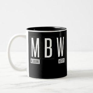 Mbw Melbourne Airport Code Souvenir Two Tone Coffee Mug