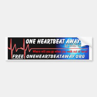 MC - 1 Heartbeat Away Bumper Sticker