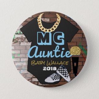 MC Auntie-90's Hip Hop Throwback{BOY}Favor Button