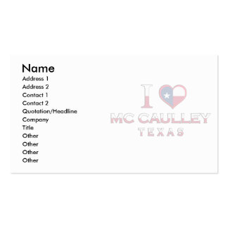 Mc Caulley, Texas Double-Sided Standard Business Cards (Pack Of 100)