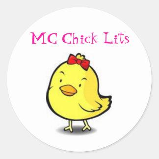 MC Chick Lits Classic Round Sticker
