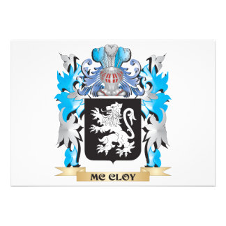 Mc-Cloy Coat of Arms - Family Crest Personalized Announcements