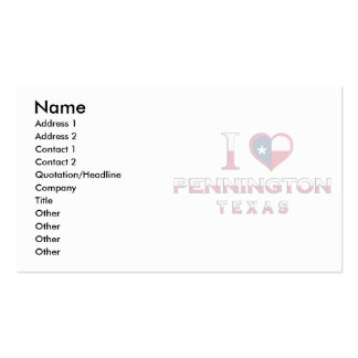 Mc Coy, Texas Double-Sided Standard Business Cards (Pack Of 100)
