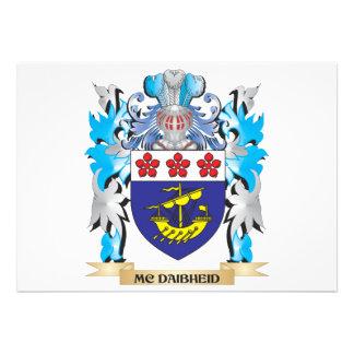 Mc-Daibheid Coat of Arms - Family Crest Custom Announcements