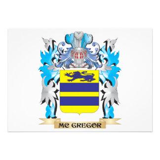Mc-Gregor Coat of Arms - Family Crest Custom Invitations
