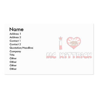 Mc Kittrick, CA Double-Sided Standard Business Cards (Pack Of 100)