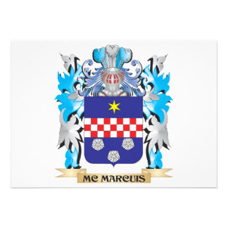 Mc-Marcuis Coat of Arms - Family Crest Cards
