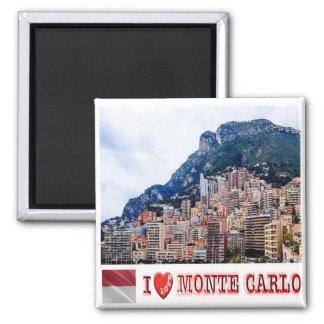 MC - Monaco Monte Carlo - I Love - Collage Mosaic Magnet