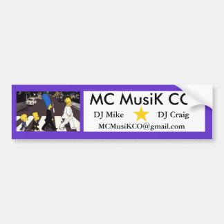 MC MusiK CO Bumper Stickers