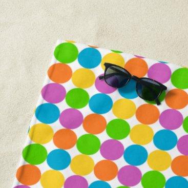Beach Themed MC Polka Dot Beach Towel