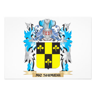 Mc-Shimidh Coat of Arms - Family Crest Personalized Announcement