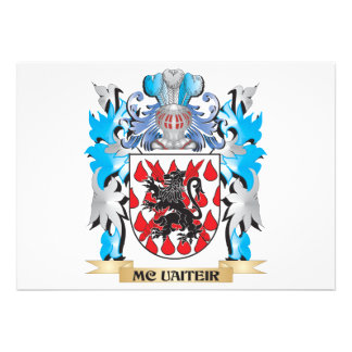 Mc-Uaiteir Coat of Arms - Family Crest Custom Invite
