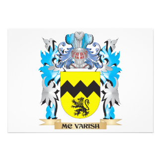 Mc-Varish Coat of Arms - Family Crest Custom Announcement