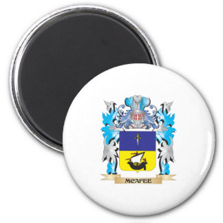 Mcafee Coat of Arms - Family Crest 2 Inch Round Magnet