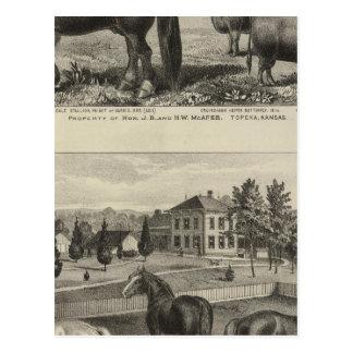 McAfee property, Topeka McCrumb, Kansas Postcard